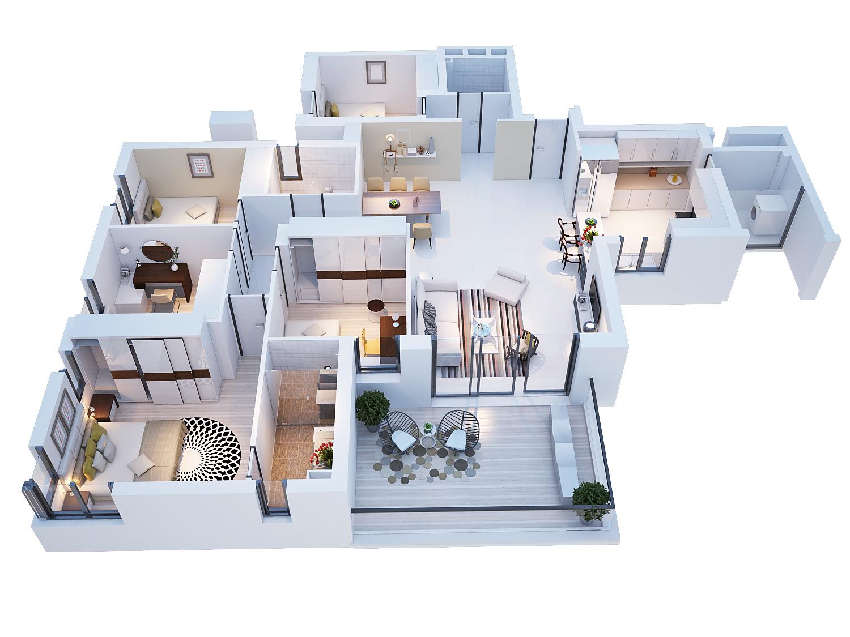 3d plan sample d - 3 D Floor Plans